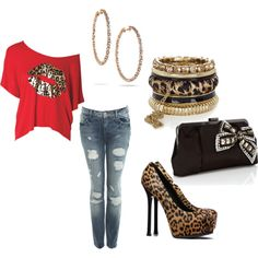 Leopard, created by ranee-araby on Polyvore
