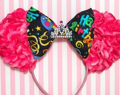 Birthday Inspired Floral Mouse Ears