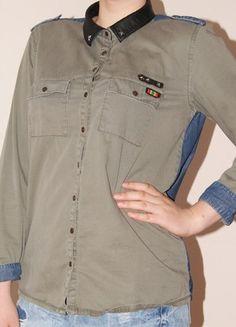 Kup mój przedmiot na #Vinted http://www.vinted.pl/kobiety/koszule/9827128-koszula-millitary-style-jeans-pullbear