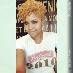 PRE{Grow Lust Worthy Hair FASTER Naturally} ========================== Go To: www.HairTriggerr.com ========================== Hot Honey Blonde Tapered Curls!