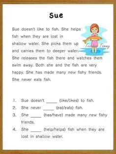 English Grammar For Kids, Kids English, English Reading, Learn English Words, Teaching English, Grammar Activities, Printable Activities For Kids, English Activities, Reading Activities