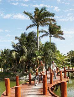 Bicycle tours at Excellence Playa Mujeres.  #PlayaMujeres #Cancun #Travel