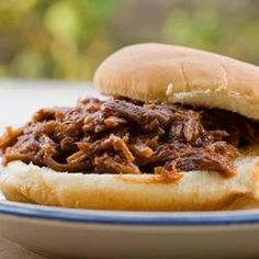 Southern Pulled Pork | Allrecipes.com Pulled Pork Recipes, Southern Recipes, Meat Recipes, Slow Cooker Recipes, Crockpot Recipes, Cooking Recipes, Dinner Recipes, Dinner Crockpot, Pulled Pork