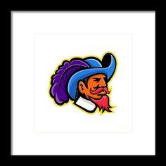 Mascot Framed Print featuring the digital art Cavalier Head Mascot by Aloysius Patrimonio Cavalier, Retro Fashion, Fine Art America, Disney Characters, Fictional Characters, Digital Art, Framed Prints, Artwork, Work Of Art