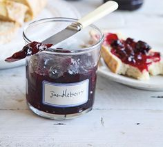 Jumbleberry jam - Preserves queen, Pam Corbin, agreed to share her top tips for preserving jams, jellies and beyond. Bbc Good Food Recipes, Jam Recipes, Recipies, Gooseberry Jam, Sauces, Plum Jam, Fruit Preserves, Roasting Tins, How To Make Jam