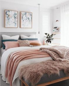 Best Small Bedroom Design Ideas & Decoration for 2018 Cool 55 Small Master Bedroom Ideas Small Master Bedroom, Master Bedroom Design, Bedroom Designs, Warm Bedroom, Girls Bedroom, Bedroom Wall, Feminine Bedroom, Stylish Bedroom, Bedroom Themes