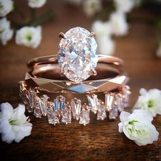Rose Gold Engagement Ring the coppery pink,The Perfect Choice for Melting Her Heart especially..looking for contemporary style designer engagement rings #engagementrings