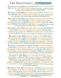 The Beatitudes of Fatherhood {Free Printable}