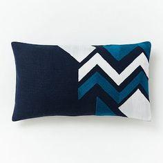 Roar + Rabbit Pattern Play Lumbar Pillow Cover - Navy #westelm