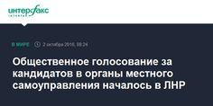 Общественное голосование за кандидатов в органы местного самоуправления началось в ЛНР - Интерфакс