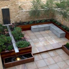 Pink sawn and sandblasted sandstone paving (wet) Pink Sandstone PrivateGardens_patios_paving