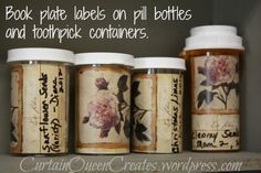 Pill Bottle Seed Storage