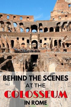 Going underground at the Colosseum in Rome | Behind the scenes at the #Colosseum in #Rome