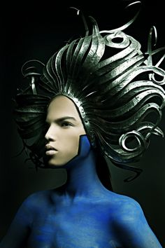 Formed leather headdress/Inspiration for HairStyle