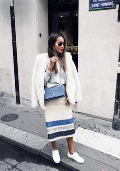 grey-sweater-and-long-pencil-skirt via