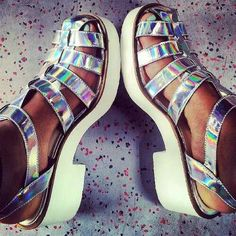 I really like holographic stuff, especially shoes that are holographic...