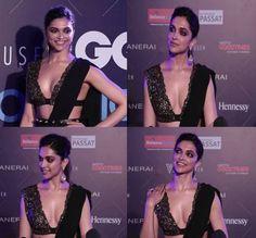 Wao!! Deepika Padukone Can We Borrow Your Sabyasachi's Designer Black Saree Blouses For This Wedding Season?
