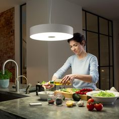 Shop Philips Hue White Ambiance Fair Dimmable LED Smart Suspension Light Multi at Best Buy. Led Pendant Lights, Pendant Light Fixtures, Philips Hue App, Luminous Colours, Lighting System, Kit Homes, Downlights, Hanging Lights