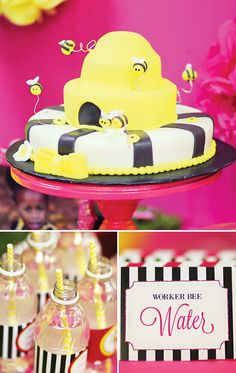 Bright & Sassy Queen Bee Party {Pink & Yellow} // Hostess with the Mostess®