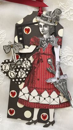 Happy to introduce my new collection of Valentine Paper Doll art tags using favorite Character Construction Stamps!! Hope you enjoy! Made with love and care! Measure on average 10 X 4.