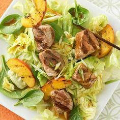 Grilled Pork and Peach Salad
