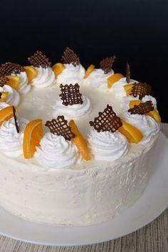 Citromhab: Oroszkrém torta Hungarian Desserts, Hungarian Cake, Hungarian Recipes, Best Cake Recipes, Sweet Recipes, Cookie Recipes, Dessert Recipes, Snacks Dishes, Cold Desserts