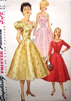 The puffy sleeves are a bit much, but I love the pink and red versions. Simplicity 1673