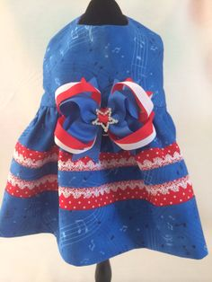 Star Spangle Banner 4th of July Lace Trim Dog by princessamee, $42.00