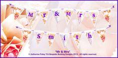 Wedding Bunting design Bunting Design, Wedding Bunting, Bespoke, Taylormade