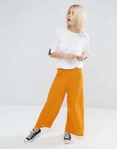 ASOS Jersey Textured Wide Leg Pants