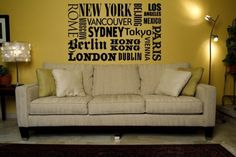 Wall Decal Places Europe Travel Vacation by WallStarGraphics, $55.00