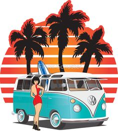 Image result for vw bus art Bus Art, Vw Bus, Hippy, Image, Movie Posters, Movies, Films, Film Poster, Cinema