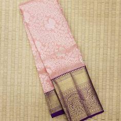 Photo by Lotus Theonestore on January Pink Saree Silk, Kanjivaram Sarees Silk, Mysore Silk Saree, Wedding Silk Saree, Pure Silk Sarees, Kanchipuram Saree, Saree Tassels Designs, Silk Saree Blouse Designs, Saree Blouse Patterns