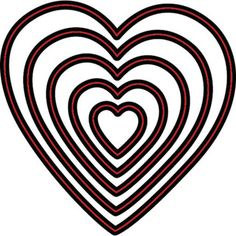 Darice® Craft Dies: Heart Nesting Die Cuts with Embossing Stencil