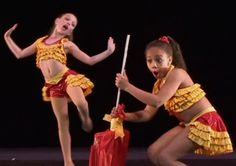 Maddie and Nia in 'Sugar Daddy' group dance