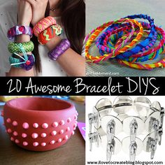 iLoveToCreate Blog: 20 Awesome Bracelet DIYs