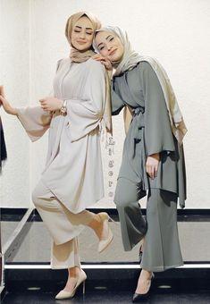 Tunic Set Style Ideas Will Make You Look Elegant Forever – Hijab Fashion Modest Fashion Hijab, Modern Hijab Fashion, Muslim Women Fashion, Street Hijab Fashion, Hijab Fashion Inspiration, Islamic Fashion, Hijab Style Dress, Fashion Muslimah, Hijab Wear