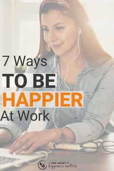 Happiness is contagious especially in the workplace. Being happier at work is possible and it will make your workplace much more enjoyable! Happy At Work, Are You Happy, The Success Club, Keep Life Simple, Ways To Be Happier, Career Inspiration, Work Stress, Work Life Balance, Useful Life Hacks