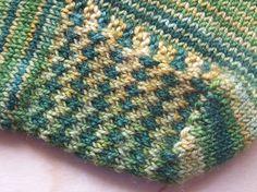 Knitting Stitches Eye Of Partridge : The Eye of Partridge stitch on the heel flap. Knitting Inspiration Pinter...