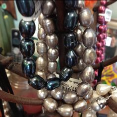 Freshwater pearls found at I'm Just Sayin Gifts in Edmond just north of Oak Tree at Broadway & Waterloo