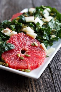 edible perspective - Home - Orange Tahini Dressing and Kale Citrus Salad