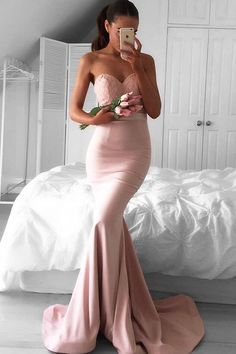 Contact+us:<b>sttidetell@outlook.com</b> You+can+also+order+this+from+our+site+for+more+color&size&delivery+options: <b>https://www.tidetell.com/stunning-sweetheart-sweep-train-pink-mermaid-prom-dress-lace-top-31392.html</b> 1.+Besides+the+picture+color,+you+can+also+choose+any+color+you+w...
