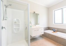 #bathroom #bathroomlayout #bathroomideas #floatingvanity #bath #shower #vanity #interiordesign