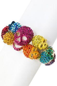 Happy Skull Bracelet by Meghan LA