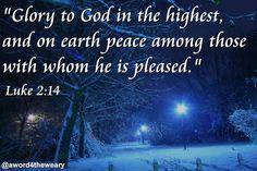 "O Mundo Invisível de uma Mulher: ""Praise God in heaven! Peace on earth to everyone ..."