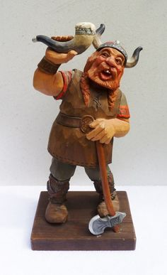 """""""Norseman"""" carved by C.O. Trygg, 1960 Sweden"""