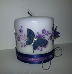 Artfully Asian Birthday Butterfly Candle