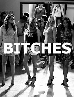 Mean Girls, this film was every girls high school experience on some level. Sexy bitches bringing their bitch game. Regina George, Mean Girls, Bad Girl Aesthetic, 90s Aesthetic, Aesthetic Vintage, Aesthetic Photo, Iconic Movies, Good Movies, Teen Movies