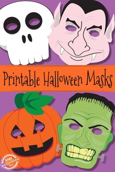 Discover all kinds of printable Halloween masks from cute to the spooky that are all free. Both kids and adults will love these Halloween masks. Halloween Masks Kids, Printable Halloween Masks, Theme Halloween, Halloween Crafts For Kids, Halloween Activities, Holidays Halloween, Pumpkin Mask Halloween, Printable Masks, Women Halloween