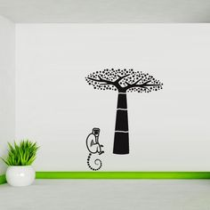 Wall Decal Art Decor Decals Sticker Tree Plant Monkey Animal Macaque Room (M183) DecorWallDecals http://www.amazon.com/dp/B00FVTEN4E/ref=cm_sw_r_pi_dp_FM-Xub1W99E5X